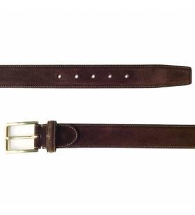 Cinturón piel serraje marrón 578
