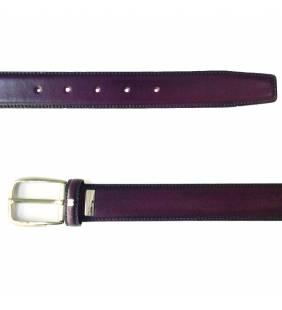 Cinturón piel napa burdeos 470
