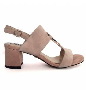 Sandalia piel ante nude 041