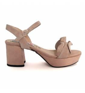 Sandalia piel ante nude 059