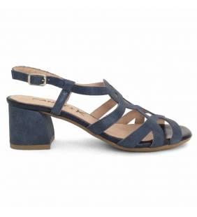 Sandalia piel brillo marino 1834