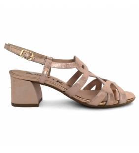 Sandalia piel brillo rosado 1834