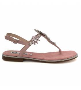 Sandalia piel ante rosa 104
