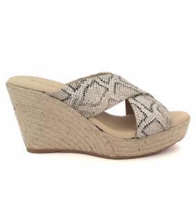 Sandalia textil serpiente oro 7594