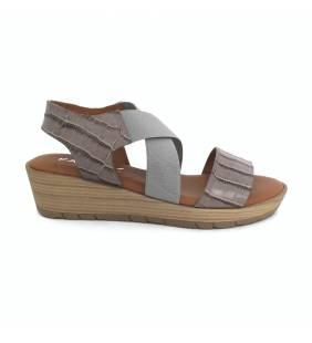 Sandalia piel coco lead/gris 4835