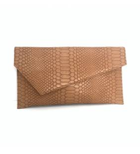Cartera serpiente camel 1198