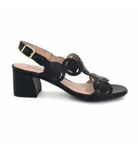 Sandalia piel napa negro 3711