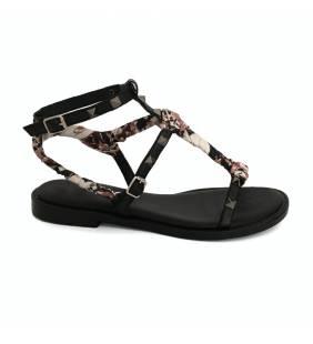 Sandalia piel negro 4410