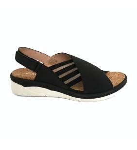 Sandalia piel negro 5136