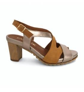Sandalia piel mostaza 760