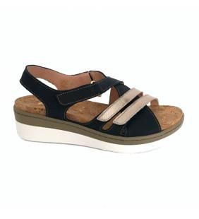 Sandalia piel marino/dollaro 5139