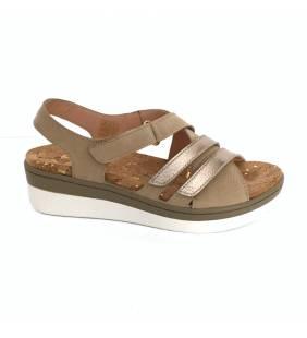 Sandalia piel beige/dollaro 5139