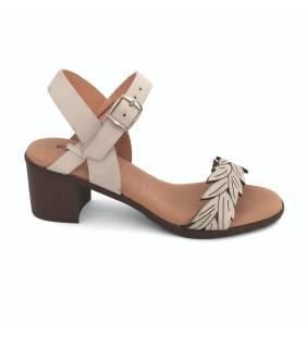 Sandalia piel blanco/hielo 91234