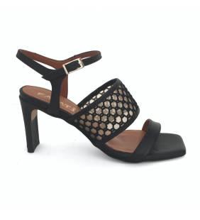 Sandalia piel negro 074