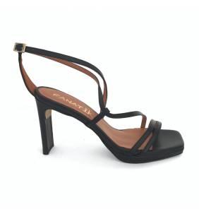 Sandalia piel negro 078