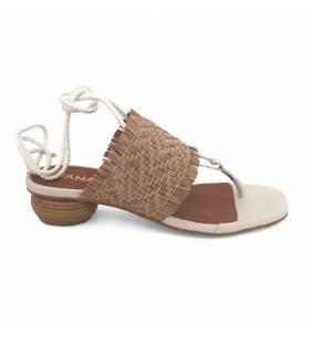 Sandalia piel hielo/tostado 012