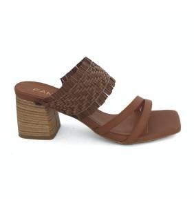 Sandalia mulé piel cuero 028