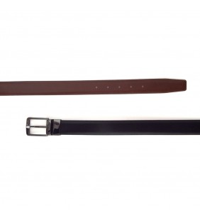 Cinturón reversible piel napa negro/cuero 430