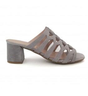 Sandalia  mulé piel gris perla 1247