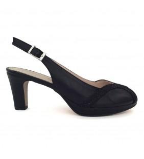 Sandalia piel napa negro 0391