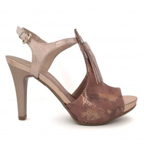 Sandalia piel komando rosado/nude 1361