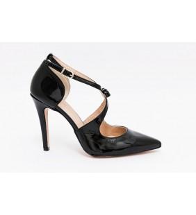 Zapato  piel charol negro 96265