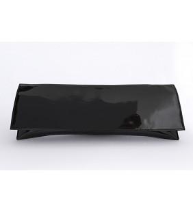 Cartera piel charol negro 0573