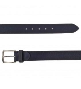 Cinturón  piel grabado negro 535
