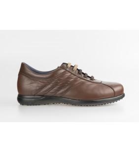 Blucher deportivo  piel napa marrón 22102