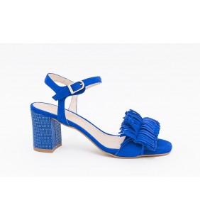 Sandalia piel ante genil azul 14551
