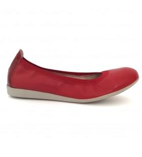 Bailarina  piel napa rojo 9639