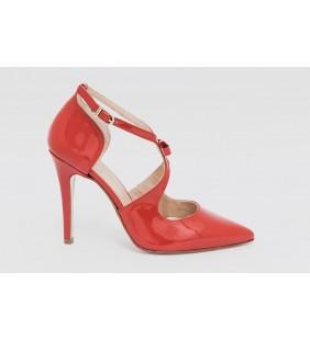 Zapato  piel charol rojo 96265