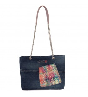 Bolso  denim bolsillo multicolor 19003