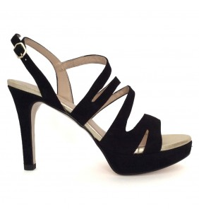 Sandalia  piel ante negro 88628