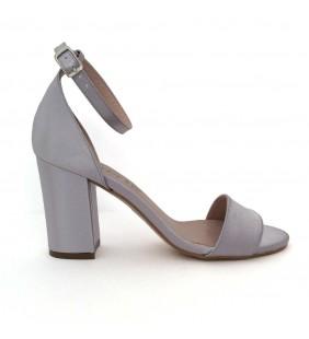 Sandalia raso plata 444