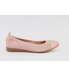 Bailarina  piel  serraje  rosa 9333