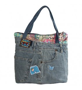 Bolso en denim irregular 19009